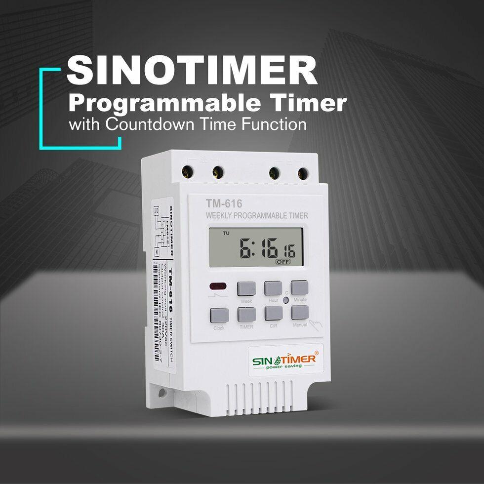 Timer Modules SINOTIMER TM616W-2 30A 220V ElNDtronic Programmable ...