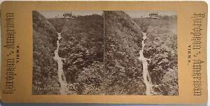 Devil's Bridge Falls Pays Da Galles Wales UK Fotografia Stereo Albumina