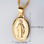 Men-Women-Catholic-Religious-Virgin-Mary-Gold-Plated-Pendant-Necklace-Jewelry miniature 7