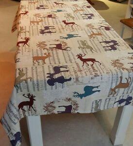 weihnachten gobelin tischl ufer tischdecke noten hirsch 150x 250 cm 40x 90 cm ebay. Black Bedroom Furniture Sets. Home Design Ideas
