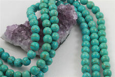 "16"" Howlite Turquoise Loose Beads Round 10mm TURQUOISE GREEN"