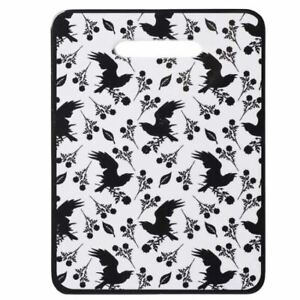 Alchemy-Gothic-Raven-Wings-Black-Rose-White-Ceramic-Chopping-Board-Trivet