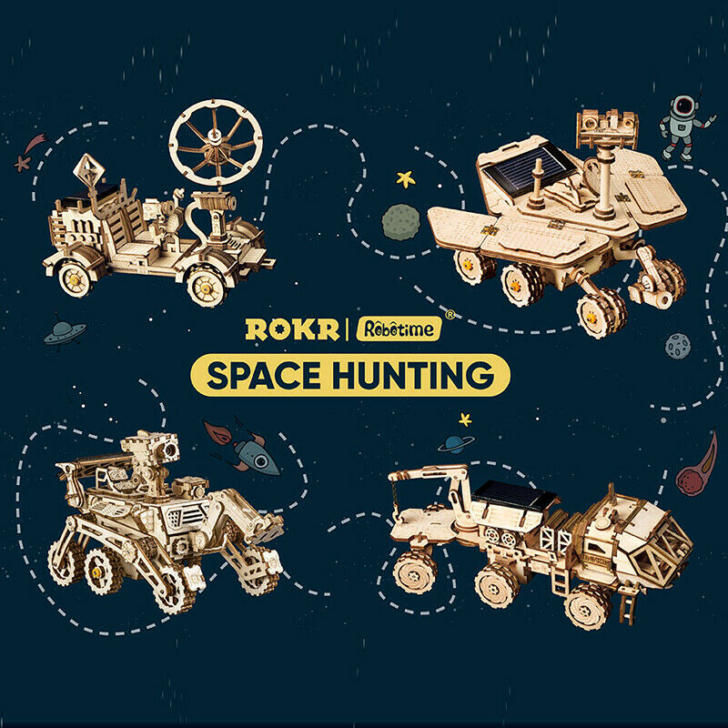 Rockr Dy Space Vehicle modelo Building kits solar Juguete Boy