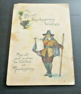 Early 1900\u2019s Thanksgiving Greeting postcard vintageantique First Thanksgiving Day in Alaska