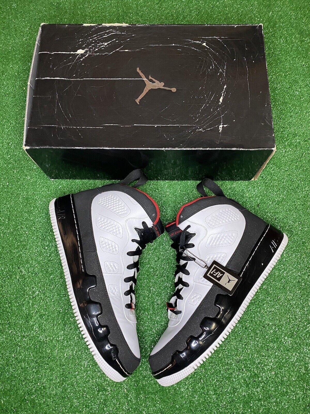 Nike Air Jordan Fusion AF9 Jordan 9 Bred OG Box VNDS Size 12 Great Condition Han