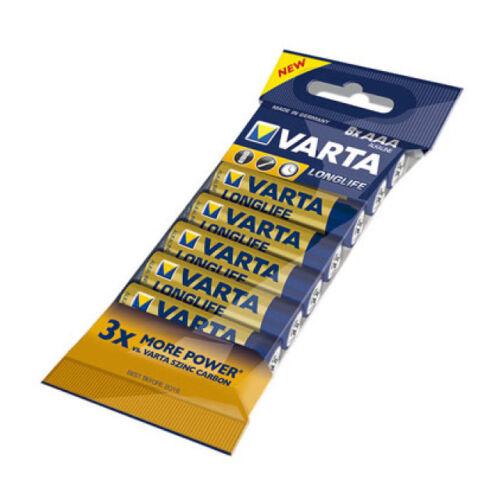 1 x 8 x VARTA LONGLIFE Batterie AAA LR3 Micro 4103 Akali 1,5V LR03 MN2400 lose