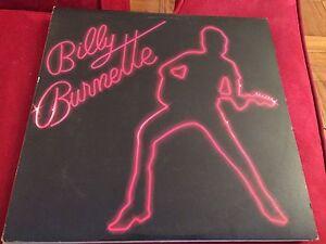 Billy Burnette vinyl album