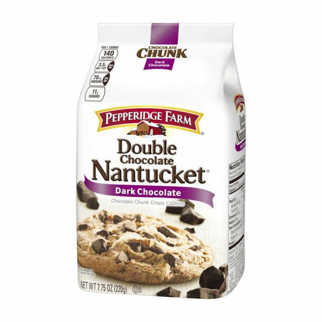Pepperidge Farm Nantucket Crispy Double Chocolate Chunk Cookies 7 75 Oz Bag For Sale Online Ebay