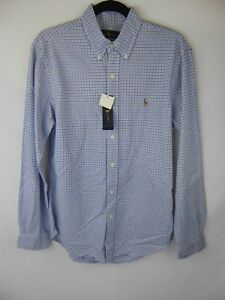 Controleren Creme Medium slim knopenkraag fit antraciet Ralph Lauren Heren op Blauw Nwt 87nwnvq