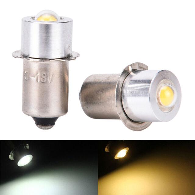 P13.5S PR2 1W Warm/White Led FlashLight Bulb High Brightness Lamps 90lm LACA