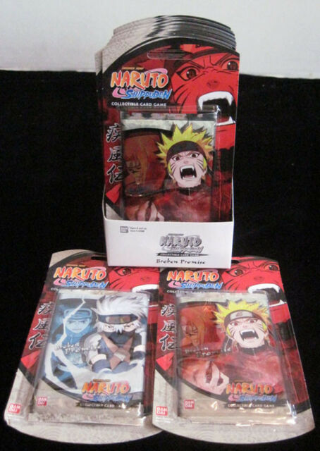 Naruto TCG CCG Path of Pain Booster Pack Sealed RARE Set