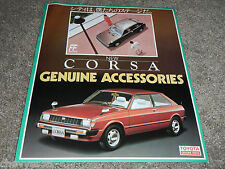 TOYOTA CORSA GENUINE ACCESSORIES JAPANESE JDM SALES BROCHURE