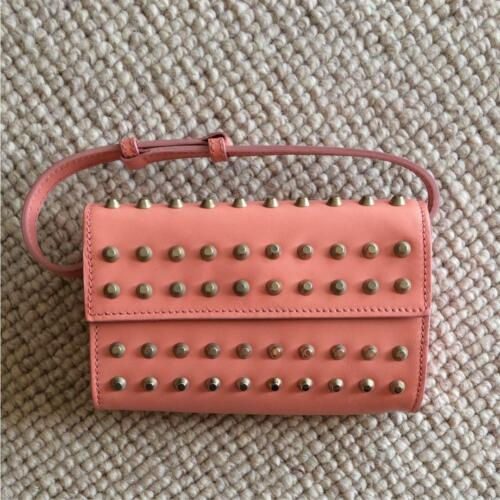 FENDI studs mini bag salmon pink ladies m3958