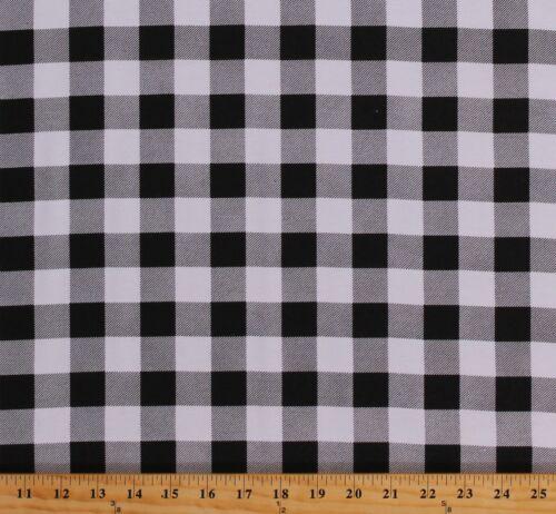 Flannel Black & White Buffalo Plaid 1 Checks Flannel Fabric Print BTY D269.04