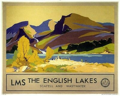 089 Vintage Railway Art Poster The Lakes   *FREE POSTERS