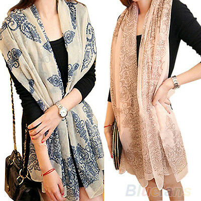 Womens Fashion Long Big Wraps Scarf Soft Fall Winter Stylish Scarves Stole B94U