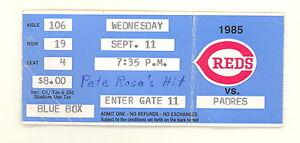 SEPTEMBER-11-1985-PETE-ROSE-HIT-4192-ORIGINAL-GAME-TICKET-STUB-502E