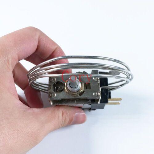 1pcs Refrigerator Thermostat AC 220-250V 5 4 A 50//60Hz 2 pins w 60cm Metal Cord