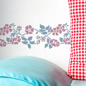 dornbusch rosen blumen bord re schablone die studio f r m bel w nde ebay. Black Bedroom Furniture Sets. Home Design Ideas