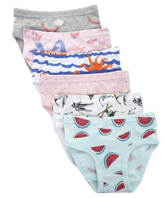 The Kite Girls Cotton Underwear Kids Soft Panties 6-Pack