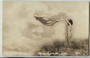 1940-039-s-Marshfield-Wisconsin-Sand-Dunes-Naked-gal-Real-Photo-Postcard-RPPC