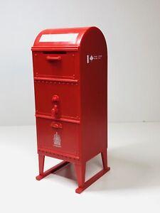 Rare-Vintage-Canada-Post-Red-Mailbox-Coin-Bank-No-Bottom