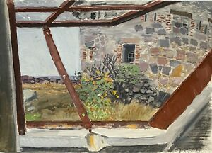 Karl-adser-1912-1995-petroleo-mirada-desde-la-ventana-al-mar-Frederiks-Dinamarca-1971