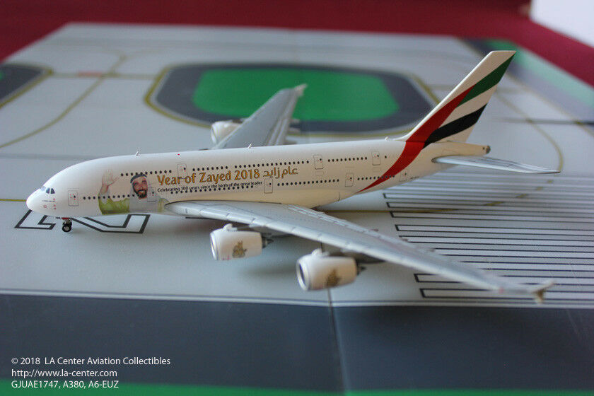 Gemini jets emirates airways airbus a380 scheich zayed farbe ein diecast modell 1 400