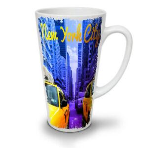 NY Stylish Print Fashion NEW White Tea Coffee Latte Mug 12 17 oz | Wellcoda
