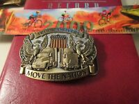 1987 Truck Drivers Move the Nation Belt Buckle