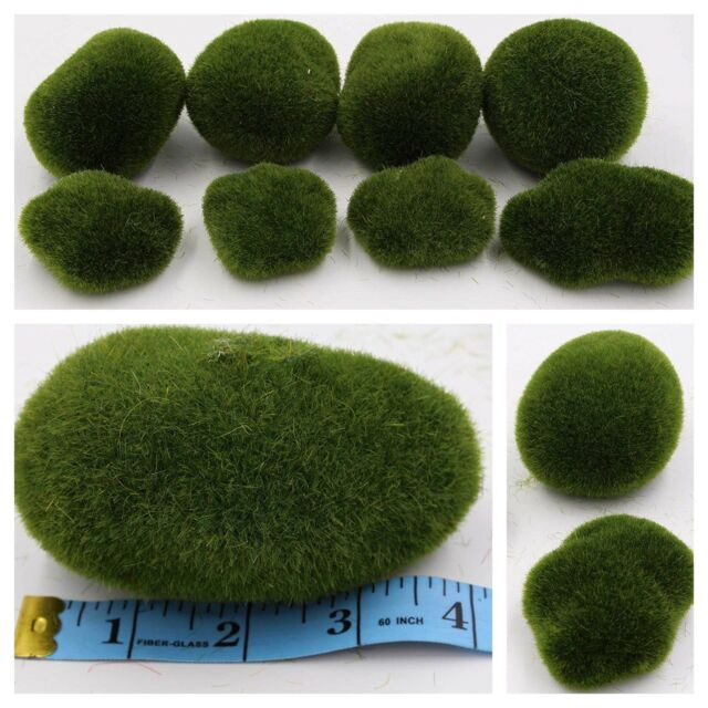 Moss Balls Green Vase Fillers Decorative Stones Artificial Moss Ball 8pcs Pack