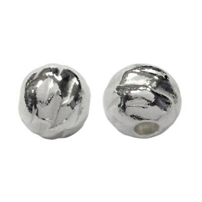 WHOLESALE 3 Packs Of 925 Sterling Silver Round Spacer Beads 6mm Silver 3x3 Pcs