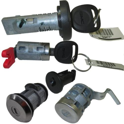 *NEW* Key Lock Cylinder Set Ignition//Glove Box//Tail Gate//Spare Tire//Driver Door