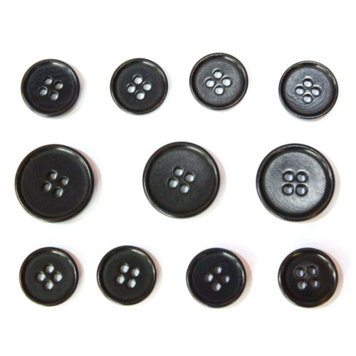 COROZO Black Nut 4 Hole Blazer Buttons Set  Suit Sport Coat