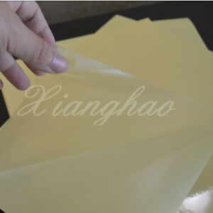 45 Sheets A4 Clear Transparent Film Adhesive Sticker Paper