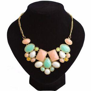 Fashion-Women-Bib-Crystal-Chain-Pendant-Choker-Chunky-Statement-Necklace-Jewelry