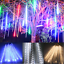 144-LED-Meteor-Shower-Falling-Rain-Drop-Icicle-Xmas-Festival-String-Fancy-Lights thumbnail 3