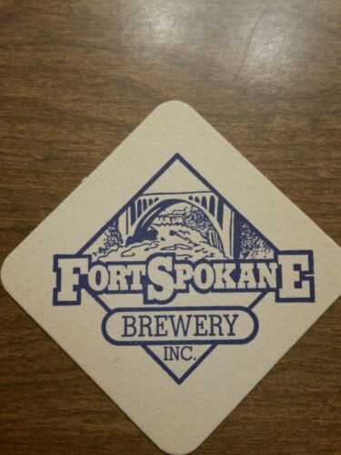 Beer Brewery COASTER ~ Fort SPOKANE Brewery ~ Washington State ** CLOSED in 2001