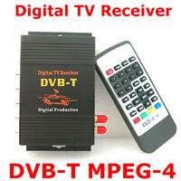 Hd Dvb-t Mpeg4 Tv Receiver Box Tuner Dual Antenna Car Mobile Digital Tv Box