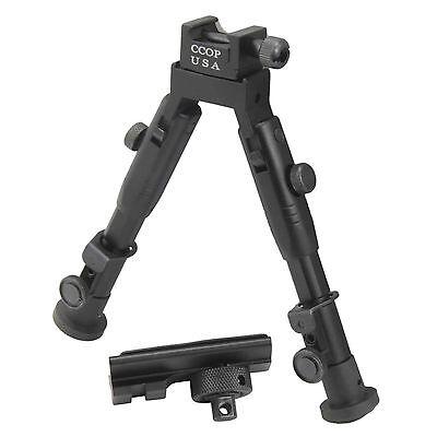 "CCOP USA 6"" Tactical Hunting Rifle Picatinny Swivel Stud Mount Bipod BP-59MINI"
