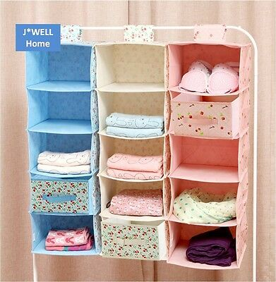 Clothing Underwear Bra Socks Quilt Wardrobe Hanging Storage Bag Drawer Organizer