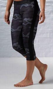 BNWT Women's Reebok 3//4 Nylux Capri Leggings Pants CF CrossFit Gym Training Yoga