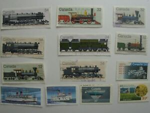 165-Different-Used-Canada-Stamps-Fine-To-Very-Fine-No-Damage