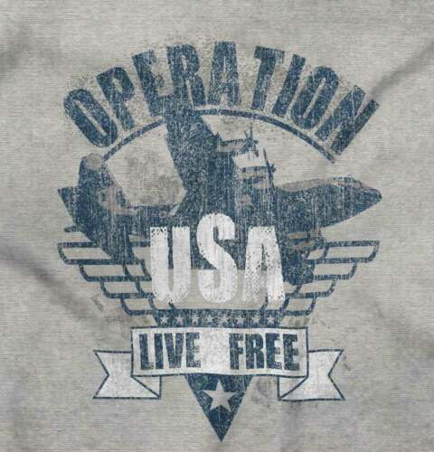 Operation US Live Free American United States Short Sleeve T-Shirt Tees Tshirts