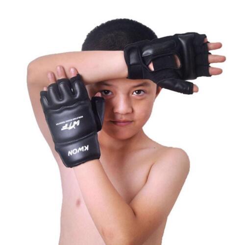 Boxing Gloves Sanda Mitts Kids Training Karate Boy Half Finger Protector Sandbag
