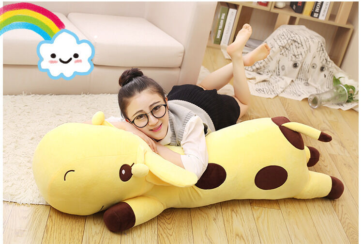 Huge plush cartoon spots giraffe toy big giallo giraffe pillow doll gift 130cm