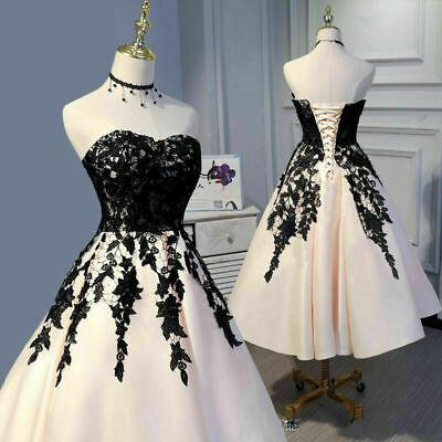 Spitze Kurze Brautkleider Armellos A Linie Brautkleider Party Prom Kleid Ebay