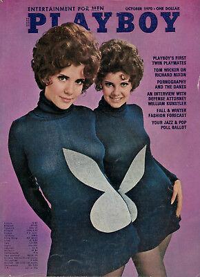 2019 Mode Playboy (us) 10/1970 October/oktober,madeleine & Mary Collinson, Lainie Kazan Auf Dem Internationalen Markt Hohes Ansehen GenießEn
