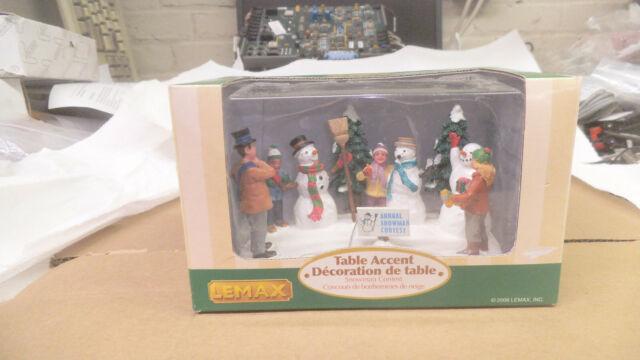 Lemax Annual Snowman Contest table accent, 2006, # 63570, nib