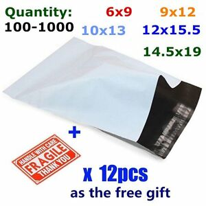100 1000 poly mailers mailing self sealing envelopes for 10x13 window envelope